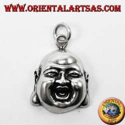 Ciondolo in Argento,  faccia Buddha benessere