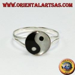 Silver ring, yin yang Tao (simple)