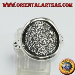 Anello in argento con Il Disco di Festo ( simbolo della fertilita)