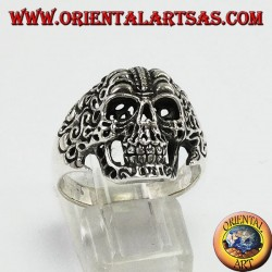 Anello in argento,Teschio tribale