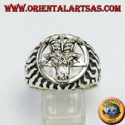 Anello in argento,Il Bafometto ( il Caprone di Mendes)