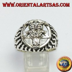 Silver ring, The Baphomet (the Captain of Mendes)