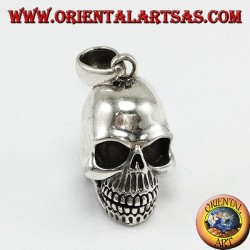 Silver pendant Skull with movable mandible
