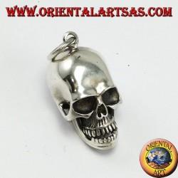 Ciondolo in argento Teschio con mandibola mobile e cranio apribile