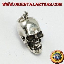 Silver pendant Skull with movable mandible and skull open