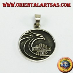 Harley Davidson silver pendant with stylized eagle