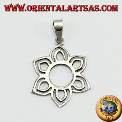 Silver Pendant, Small Lotus Flower