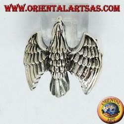 Anello in argento Aquila il volo