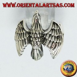 Silver ring, eagle fly