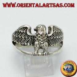 Anello in argento, aquila imperiale