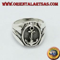 Anello d'argento con àncora