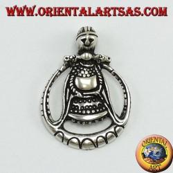 Ciondolo in argento Freya dea dell'amore (moglie di Odino)