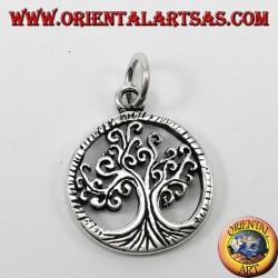 Ciondolo d'argento, albero della vita ( simbolo universale della vita )