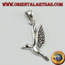 Silver pendant, the seagull
