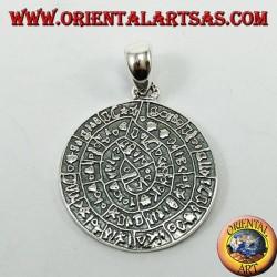 Ciondolo in argento, il disco di Festo (simbolo della fertilità)