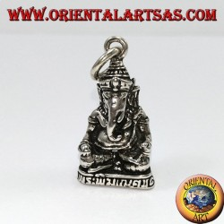 Pendant in silver Ganesha statue