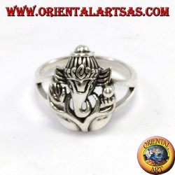 Silver ring with Ganesha or Ganesh