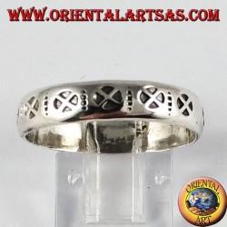 Anello in argento ( fascetta ),con la croce cosmica