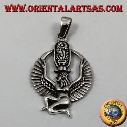 Ciondolo d'argento Iside Dea della maternità, della fertilità e della magia