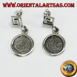 Silver earrings with Festo disc