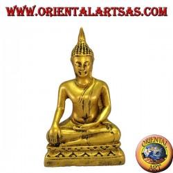 Bouddha Bhumisparsa résine hauteur cm. 11