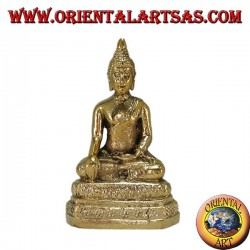 Buddha Bhumisparsa in ottone altezza cm 7