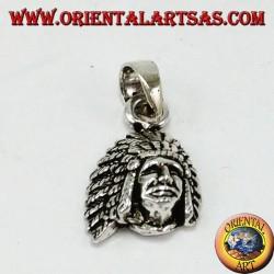 Silber Anhänger, Native Indian Head (klein)