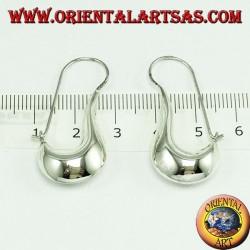 silver earrings, crescent tear