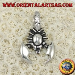 Colgante de plata, escorpión
