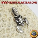 Silver pendant, scorpion