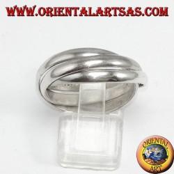 anneau en boucle d'argent, 3 pour 3mm (modèle Cartier)