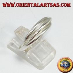 Fedina in argento 3 per 2 millimetri (Modello cartier)