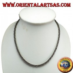 Necklace in silver, torso cm 45