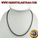 Collana in argento, torcione cm 45