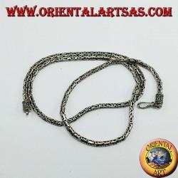 Silver Necklace, BOROBUDUR cm 60