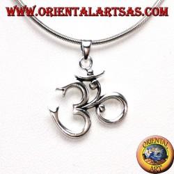 Ciondolo in argento 925 OM Oṁ Óm E Aum Sillaba Sacra