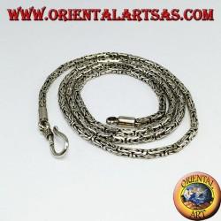 Silver Necklace, BOROBUDUR cm 55