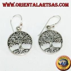Silber keltischer Baum Baum Ohrringe