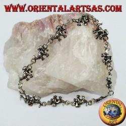 Dinosaurier Silber Armband