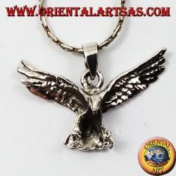 Aquila ciondolo in argento