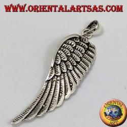 Ala ciondolo in argento (Grande)