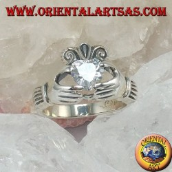 Claddagh ring with zircon