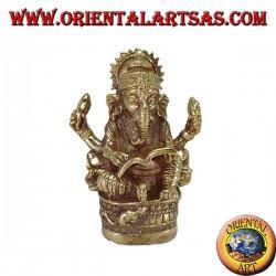 Статуя Ганеша, написанная Махабхаратой в латуни