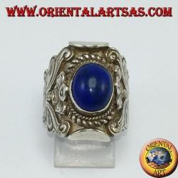 Bague en argent 925 avec lapis-lazuli (népalais)