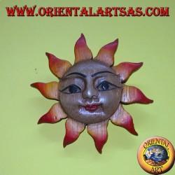 Sole il legno di teak colorato piccolo