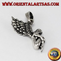 Silver pendant Three-dimensional fairy