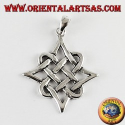 Silver pendant from Solomon's knot