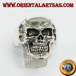 Joker skull silver ring