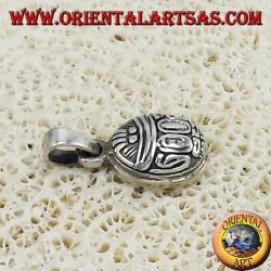 Silver pendant, beetle