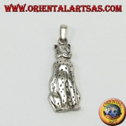 Silver pendant, panther